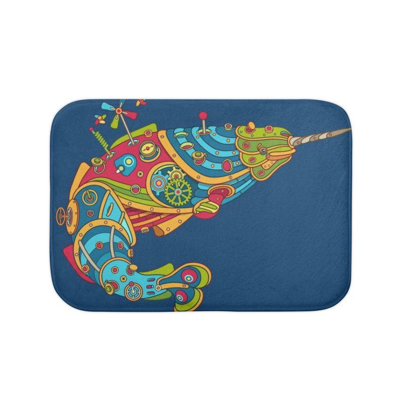 Narwhal, cool art from the AlphaPod Collection Home Bath Mat by AlphaPod