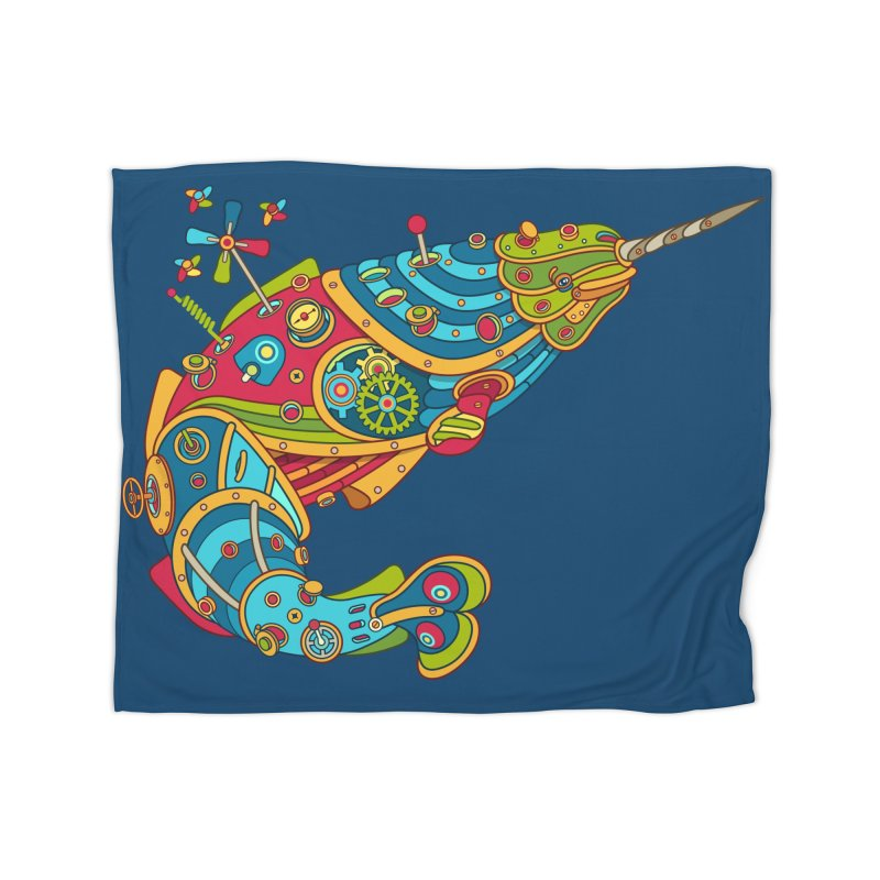 Narwhal, cool art from the AlphaPod Collection Home Blanket by AlphaPod