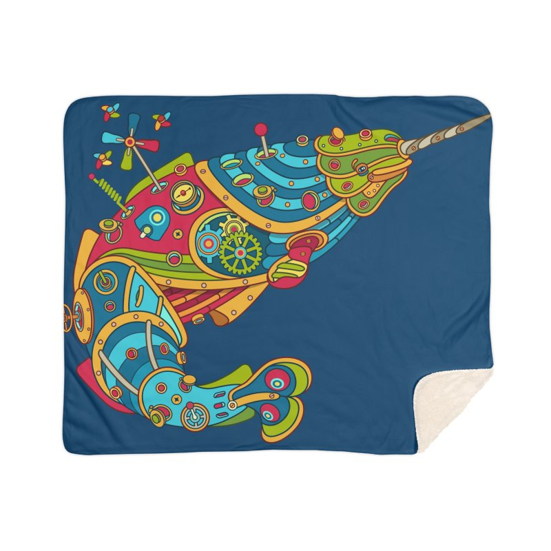 Narwhal, cool art from the AlphaPod Collection Home Sherpa Blanket Blanket by AlphaPod
