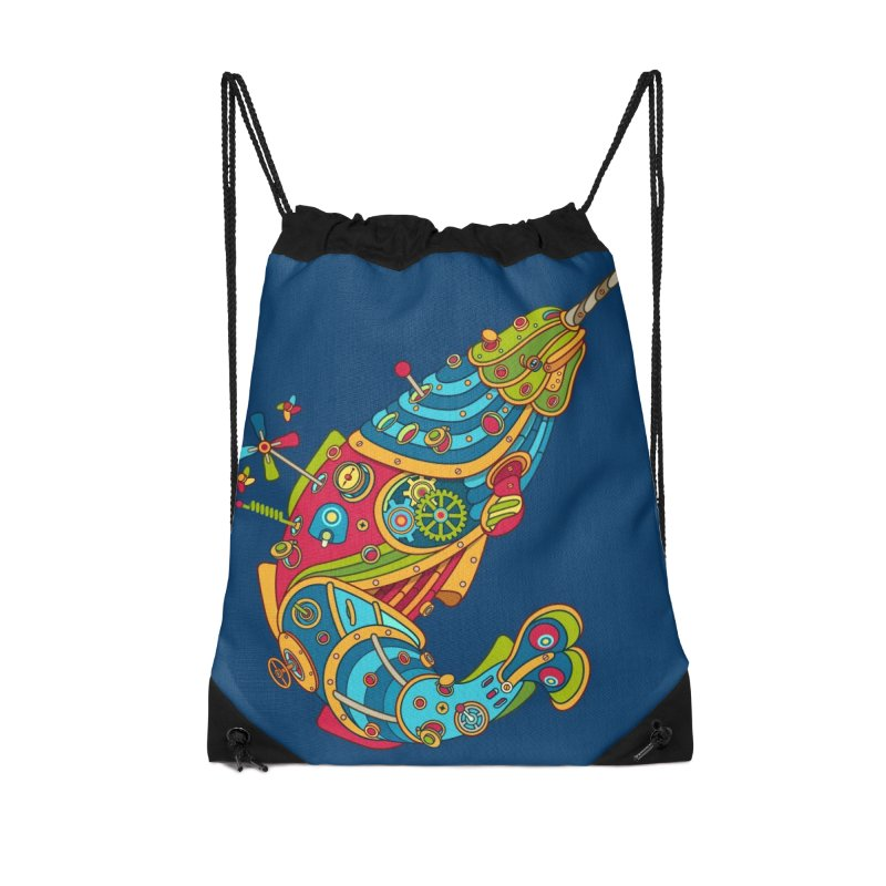 Narwhal, cool art from the AlphaPod Collection Accessories Drawstring Bag Bag by AlphaPod