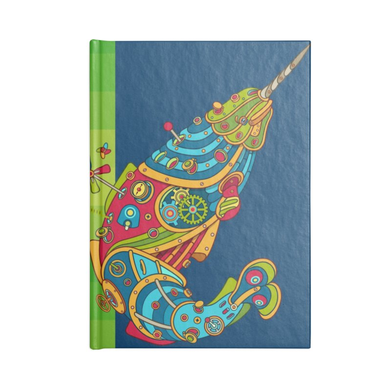 Narwhal, cool art from the AlphaPod Collection Accessories Blank Journal Notebook by AlphaPod