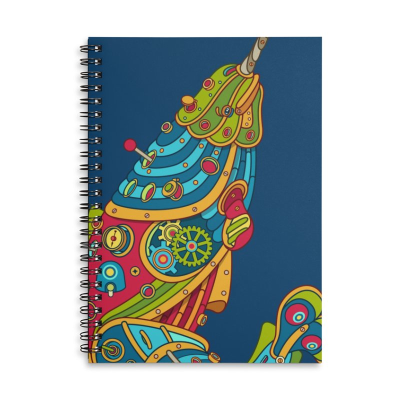 Narwhal, cool art from the AlphaPod Collection Accessories Lined Spiral Notebook by AlphaPod
