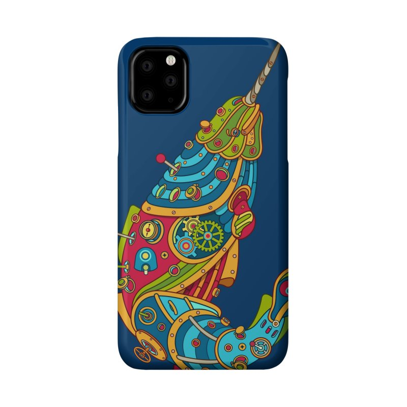 Narwhal, cool art from the AlphaPod Collection Accessories Phone Case by AlphaPod
