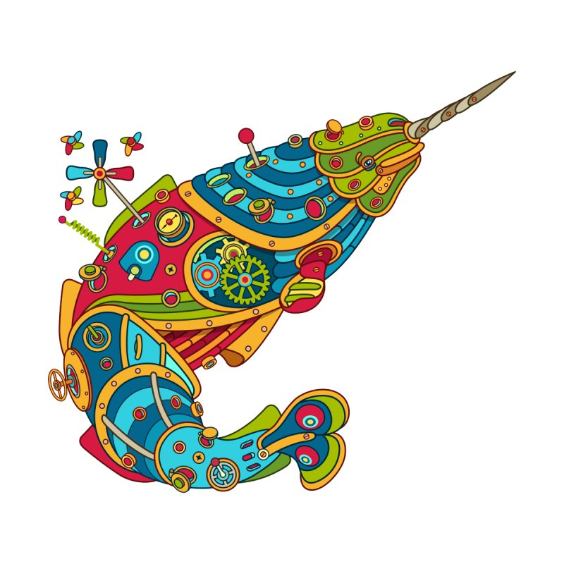 Narwhal, cool art from the AlphaPod Collection   by AlphaPod