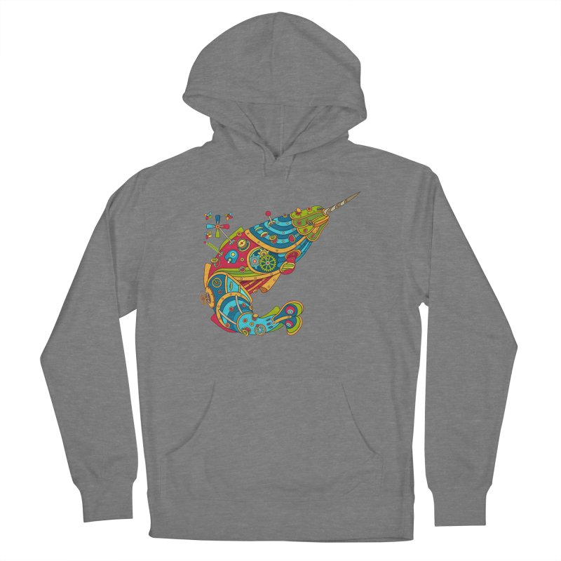 Narwhal, cool art from the AlphaPod Collection Men's Pullover Hoody by AlphaPod