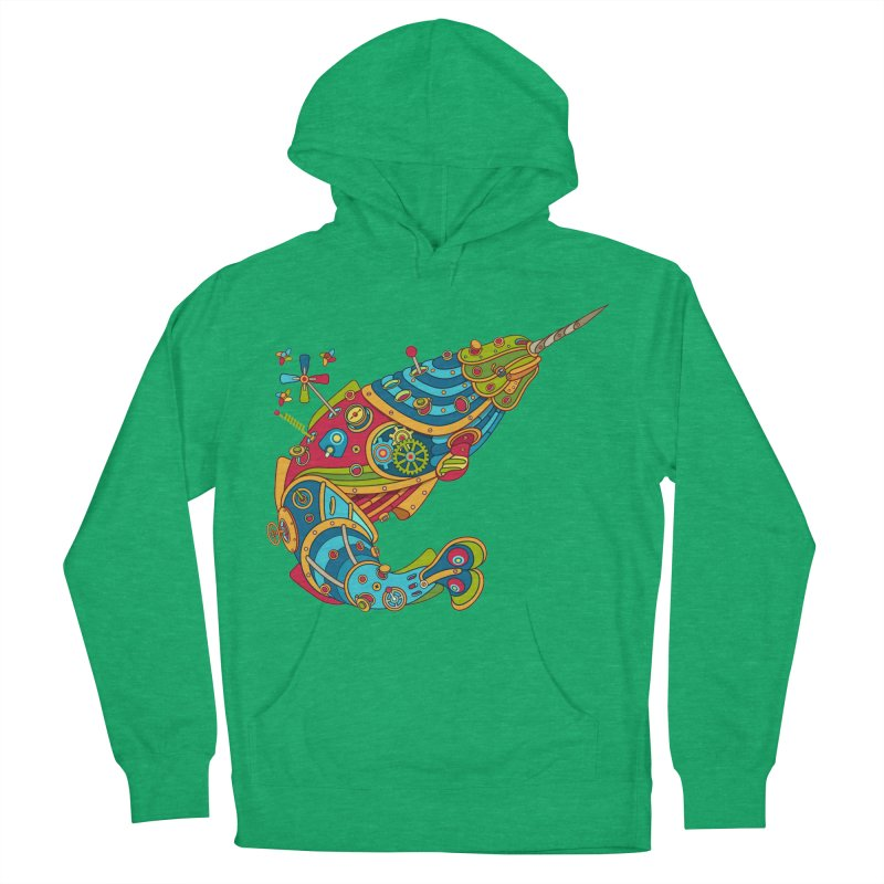 Narwhal, cool art from the AlphaPod Collection Women's Pullover Hoody by AlphaPod