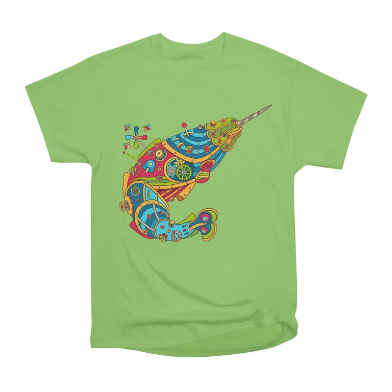Narwhal, cool art from the AlphaPod Collection Men's Heavyweight T-Shirt by AlphaPod
