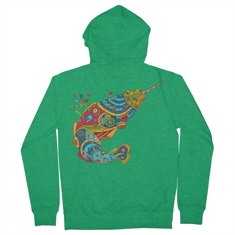 Narwhal, cool art from the AlphaPod Collection Women's French Terry Zip-Up Hoody by AlphaPod