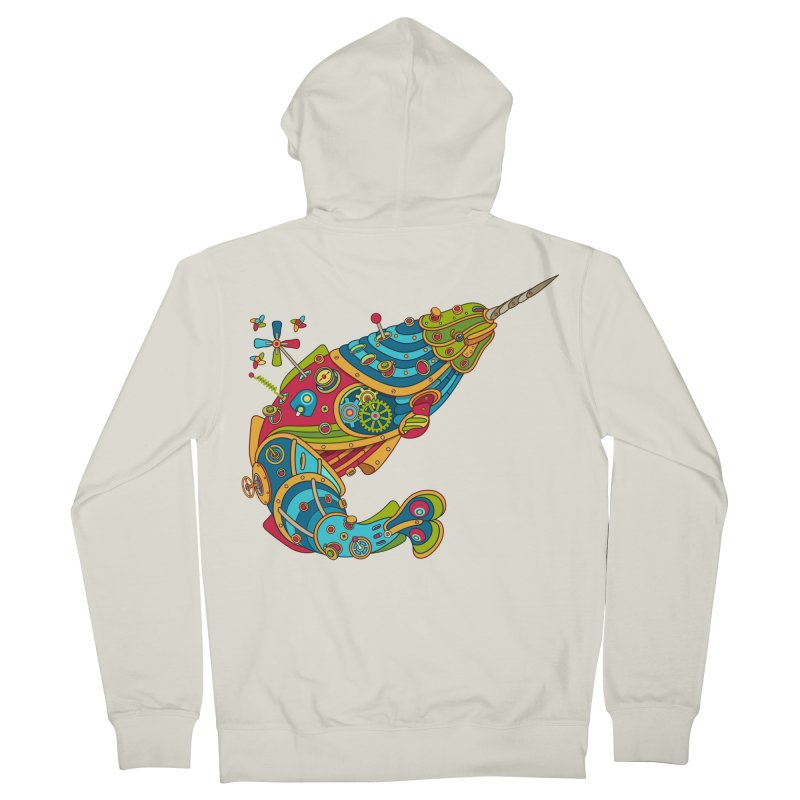 Narwhal, cool art from the AlphaPod Collection Women's Zip-Up Hoody by AlphaPod