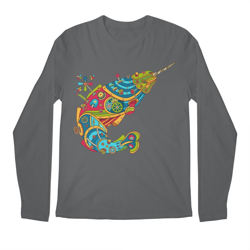 Narwhal, cool art from the AlphaPod Collection Men's Regular Longsleeve T-Shirt by AlphaPod