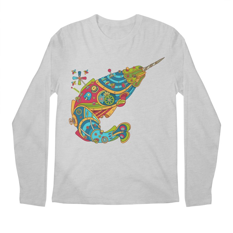 Narwhal, cool art from the AlphaPod Collection Men's Longsleeve T-Shirt by AlphaPod