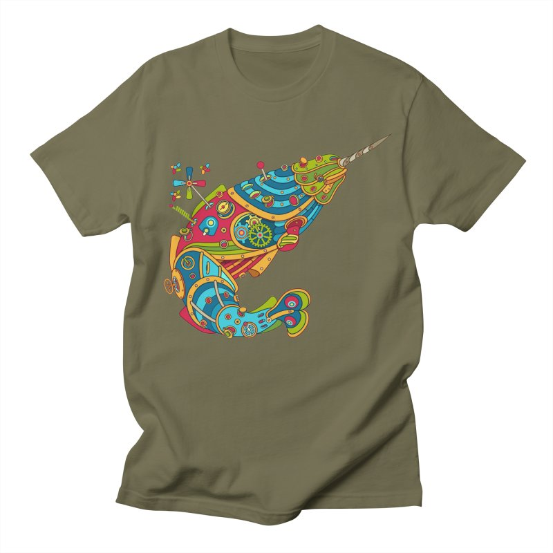 Narwhal, cool art from the AlphaPod Collection Women's Regular Unisex T-Shirt by AlphaPod