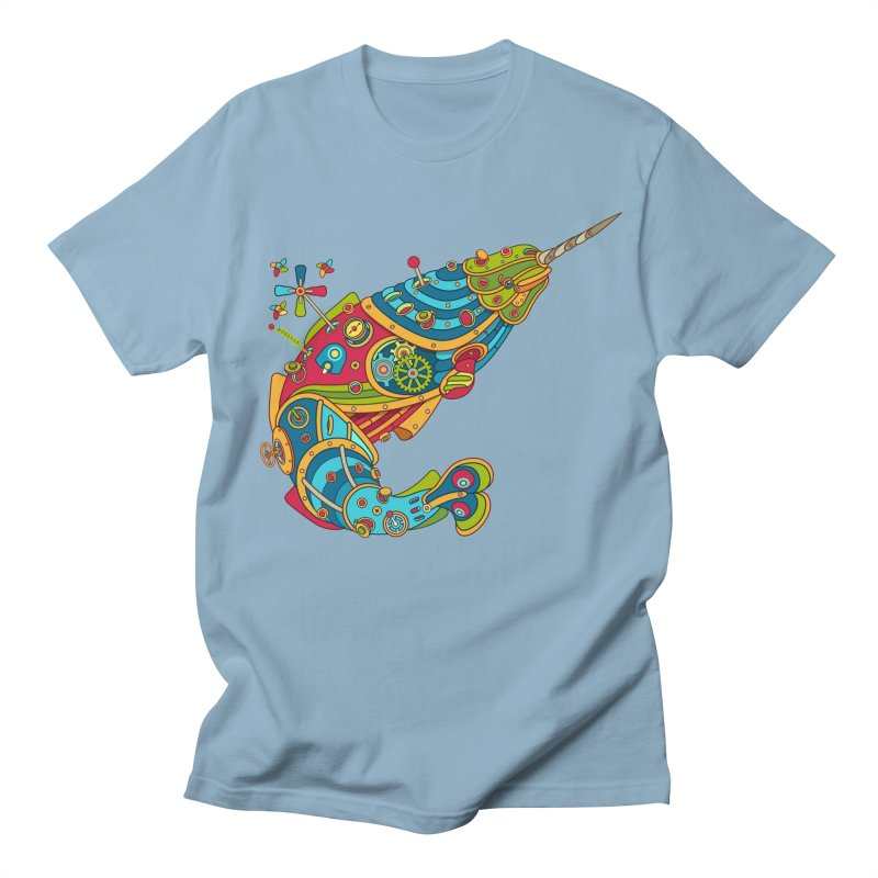 Narwhal, cool art from the AlphaPod Collection Men's Regular T-Shirt by AlphaPod