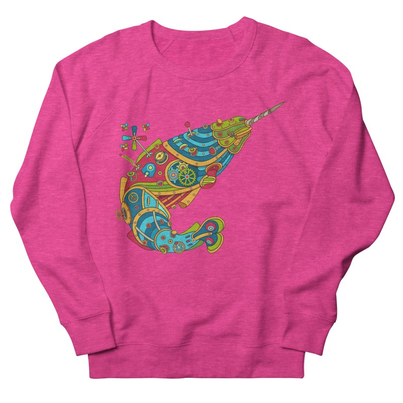 Narwhal, cool art from the AlphaPod Collection Women's French Terry Sweatshirt by AlphaPod