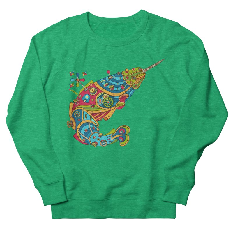 Narwhal, cool art from the AlphaPod Collection Men's French Terry Sweatshirt by AlphaPod