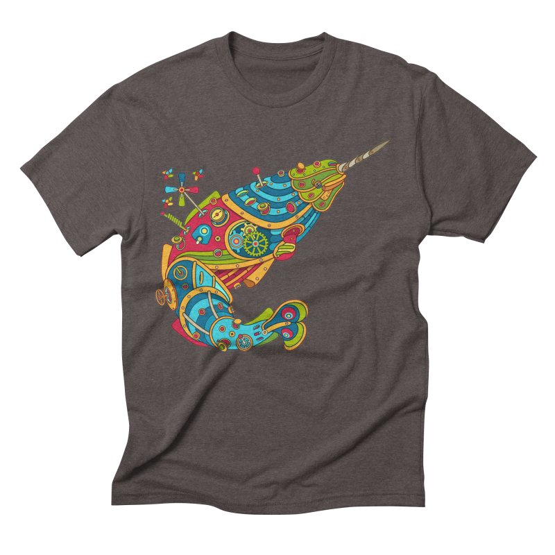 Narwhal, cool art from the AlphaPod Collection Men's Triblend T-Shirt by AlphaPod