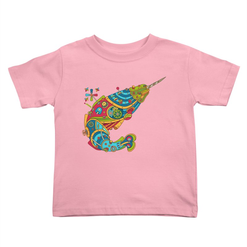Narwhal, cool art from the AlphaPod Collection Kids Toddler T-Shirt by AlphaPod