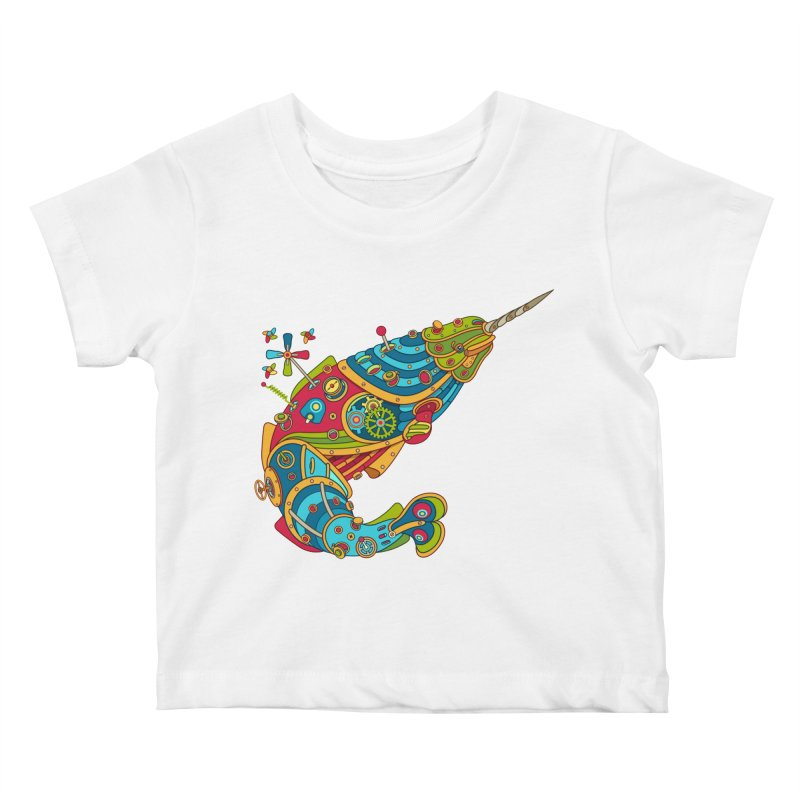 Narwhal, cool art from the AlphaPod Collection Kids Baby T-Shirt by AlphaPod