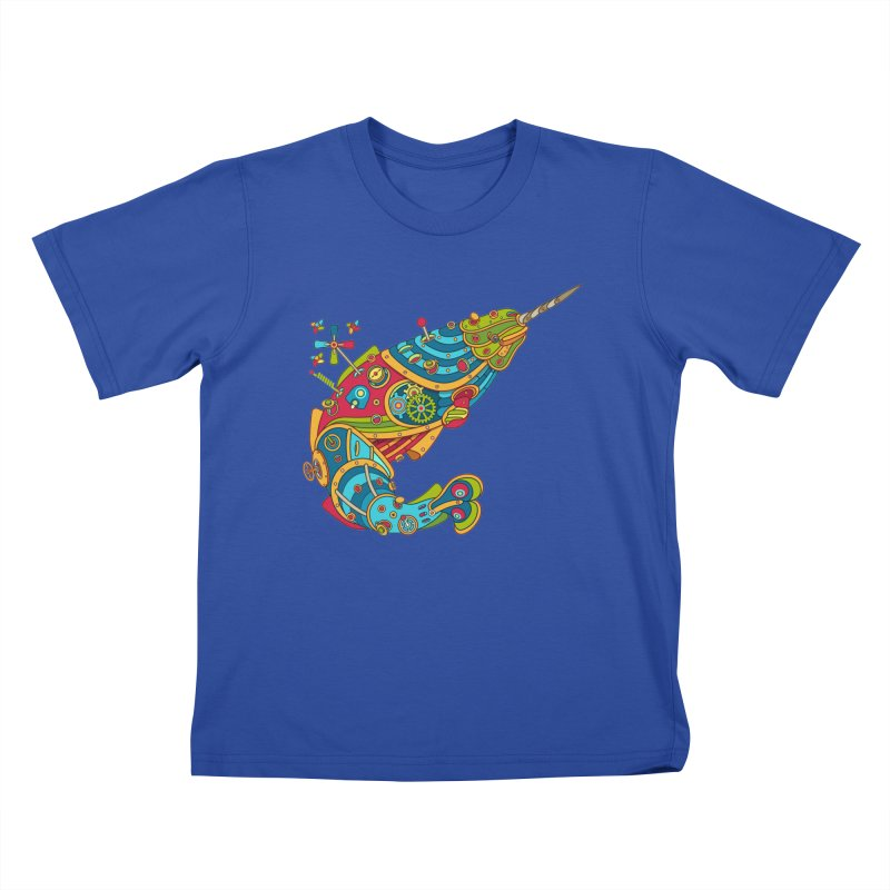 Narwhal, cool art from the AlphaPod Collection Kids T-Shirt by AlphaPod