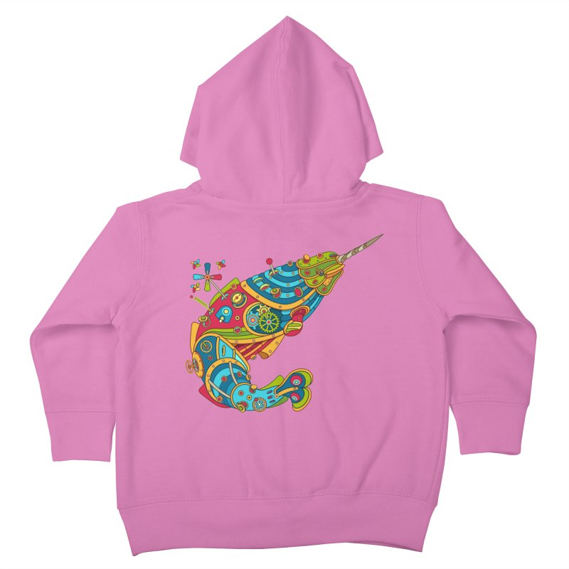 Narwhal, cool art from the AlphaPod Collection Kids Toddler Zip-Up Hoody by AlphaPod