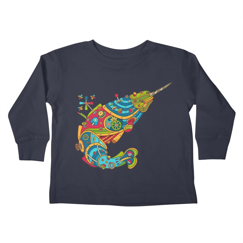 Narwhal, cool art from the AlphaPod Collection Kids Toddler Longsleeve T-Shirt by AlphaPod