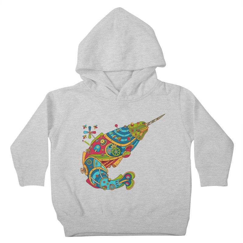 Narwhal, cool art from the AlphaPod Collection Kids Toddler Pullover Hoody by AlphaPod