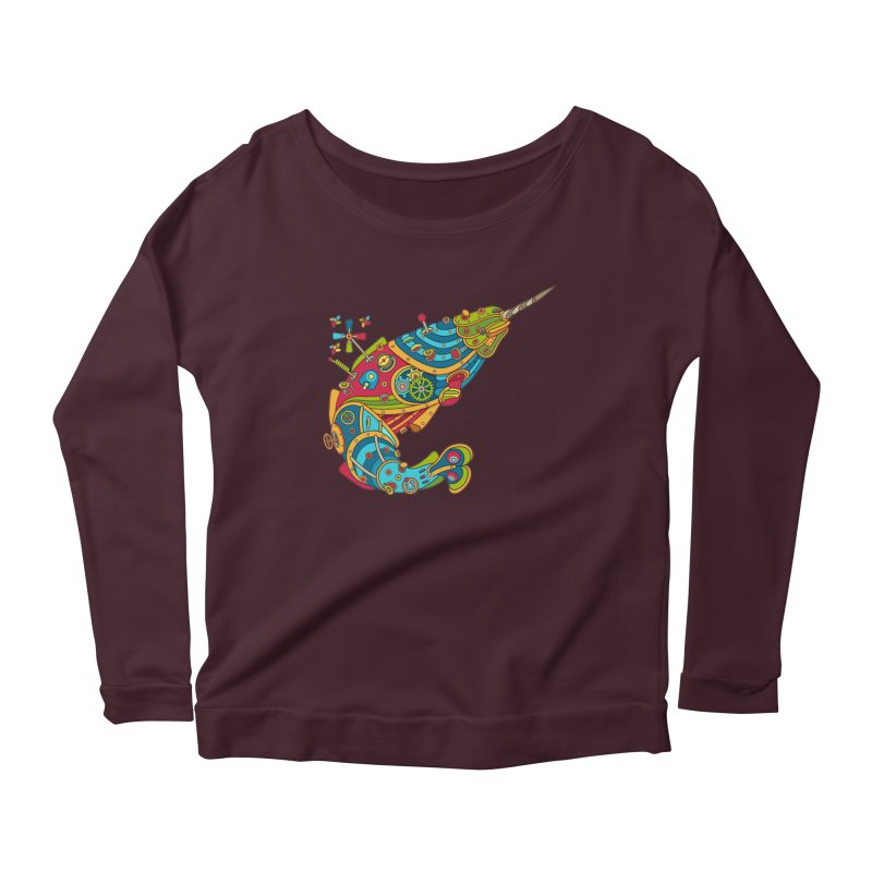 Narwhal, cool art from the AlphaPod Collection Women's Longsleeve T-Shirt by AlphaPod