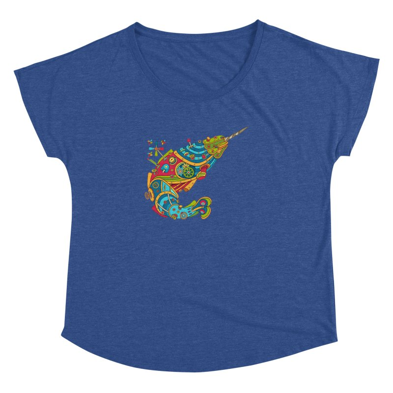 Narwhal, cool art from the AlphaPod Collection Women's Dolman by AlphaPod