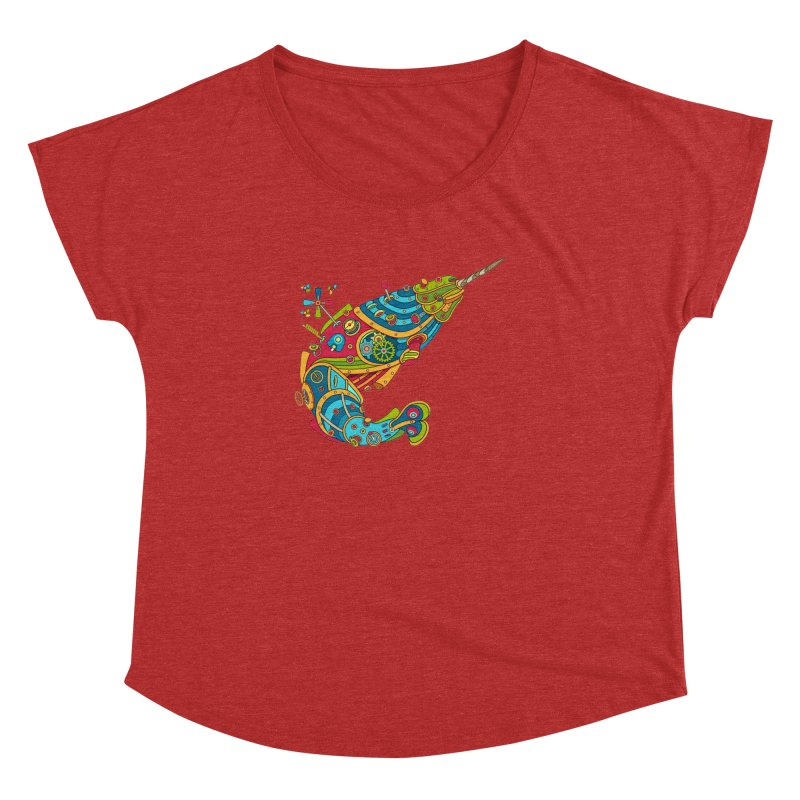Narwhal, cool art from the AlphaPod Collection Women's Dolman Scoop Neck by AlphaPod