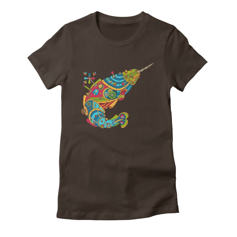 Narwhal, cool art from the AlphaPod Collection Women's Fitted T-Shirt by AlphaPod