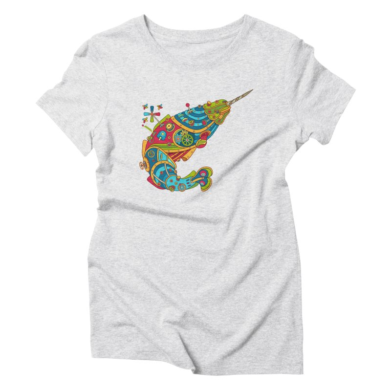 Narwhal, cool art from the AlphaPod Collection Women's Triblend T-Shirt by AlphaPod
