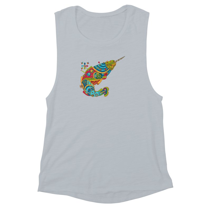 Narwhal, cool art from the AlphaPod Collection Women's Muscle Tank by AlphaPod