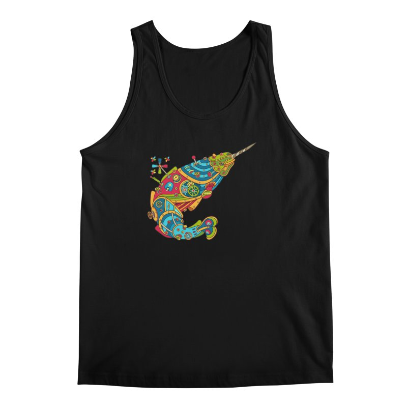 Narwhal, cool art from the AlphaPod Collection Men's Regular Tank by AlphaPod