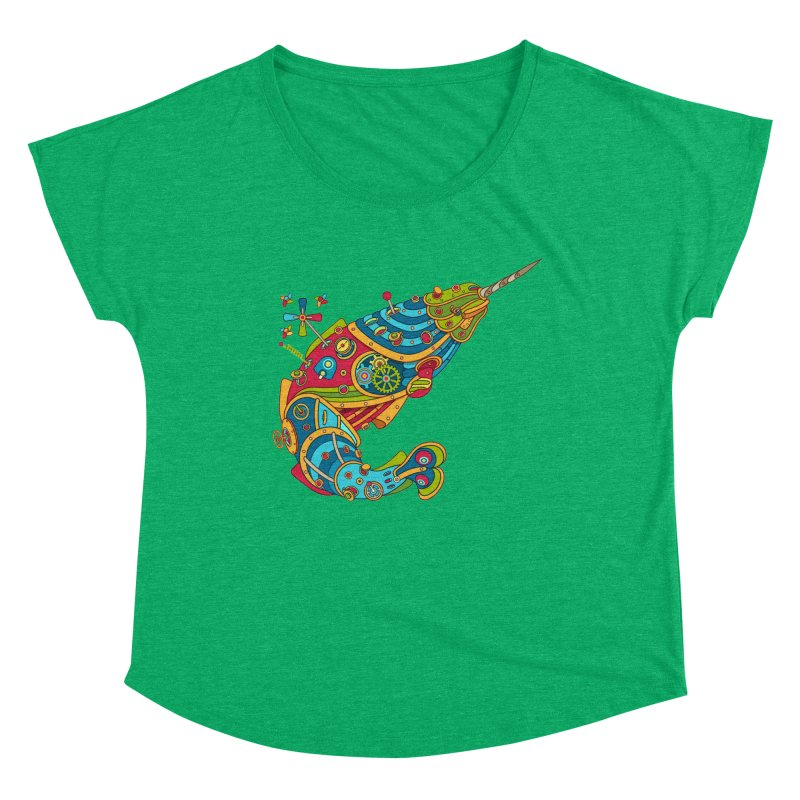 Narwhal, cool art from the AlphaPod Collection Women's Scoop Neck by AlphaPod