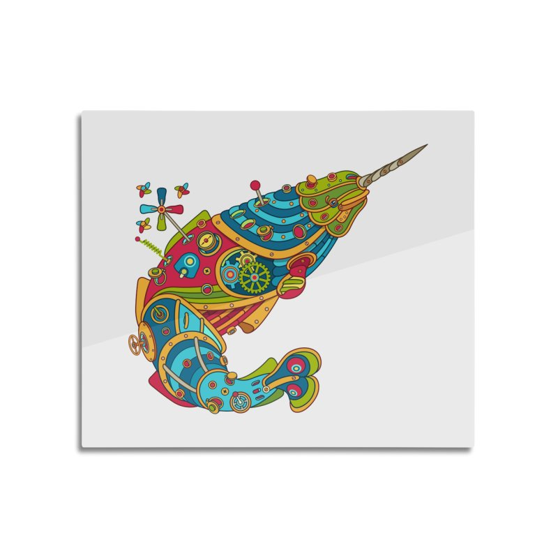 Narwhal, cool art from the AlphaPod Collection Home Mounted Acrylic Print by AlphaPod