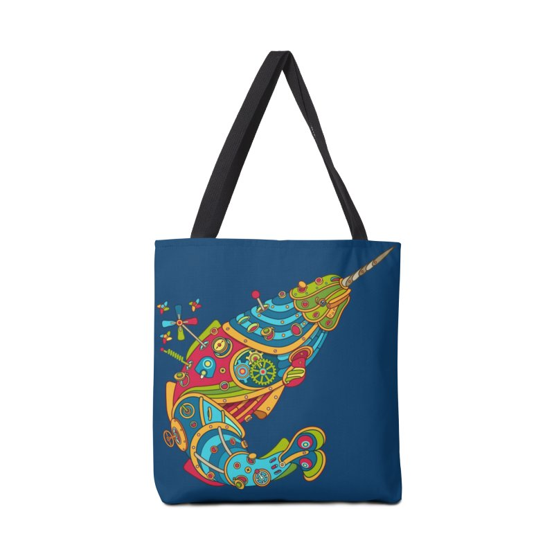 Narwhal, cool art from the AlphaPod Collection Accessories Bag by AlphaPod