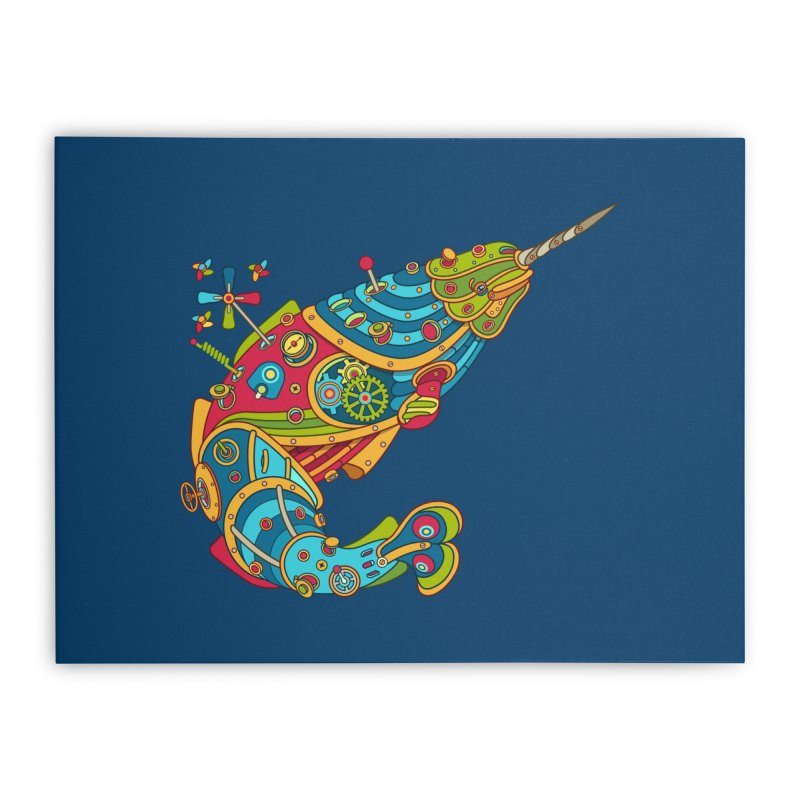 Narwhal, cool art from the AlphaPod Collection Home Stretched Canvas by AlphaPod