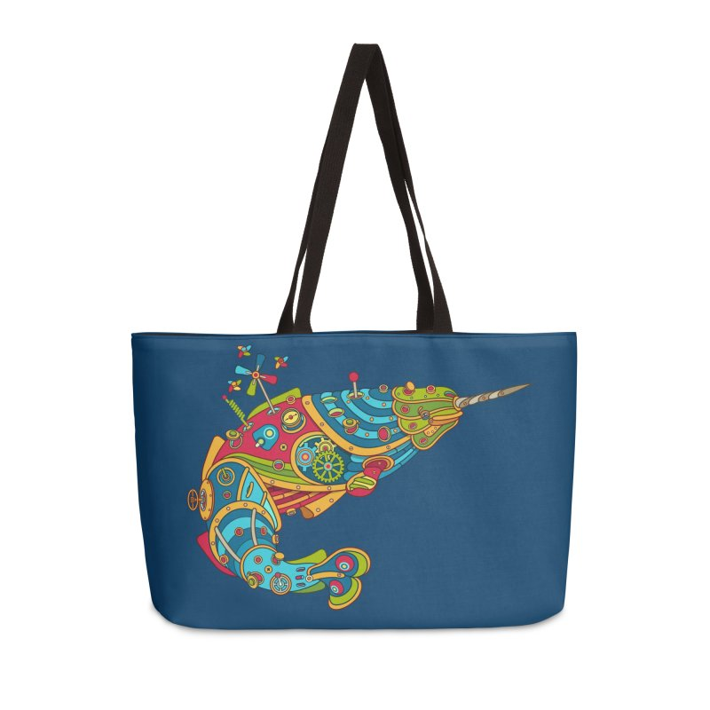Narwhal, cool art from the AlphaPod Collection Accessories Weekender Bag Bag by AlphaPod