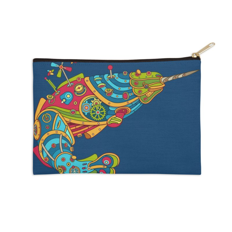 Narwhal, cool art from the AlphaPod Collection Accessories Zip Pouch by AlphaPod