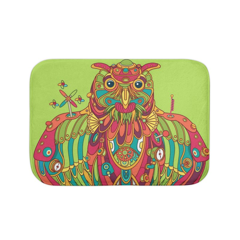 Owl, cool art from the AlphaPod Collection Home Bath Mat by AlphaPod