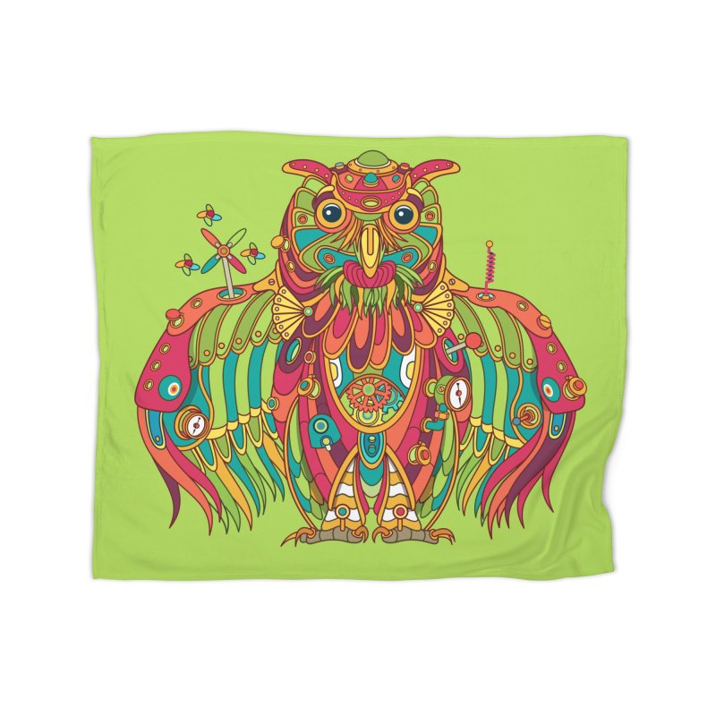 Owl, cool art from the AlphaPod Collection Home Blanket by AlphaPod