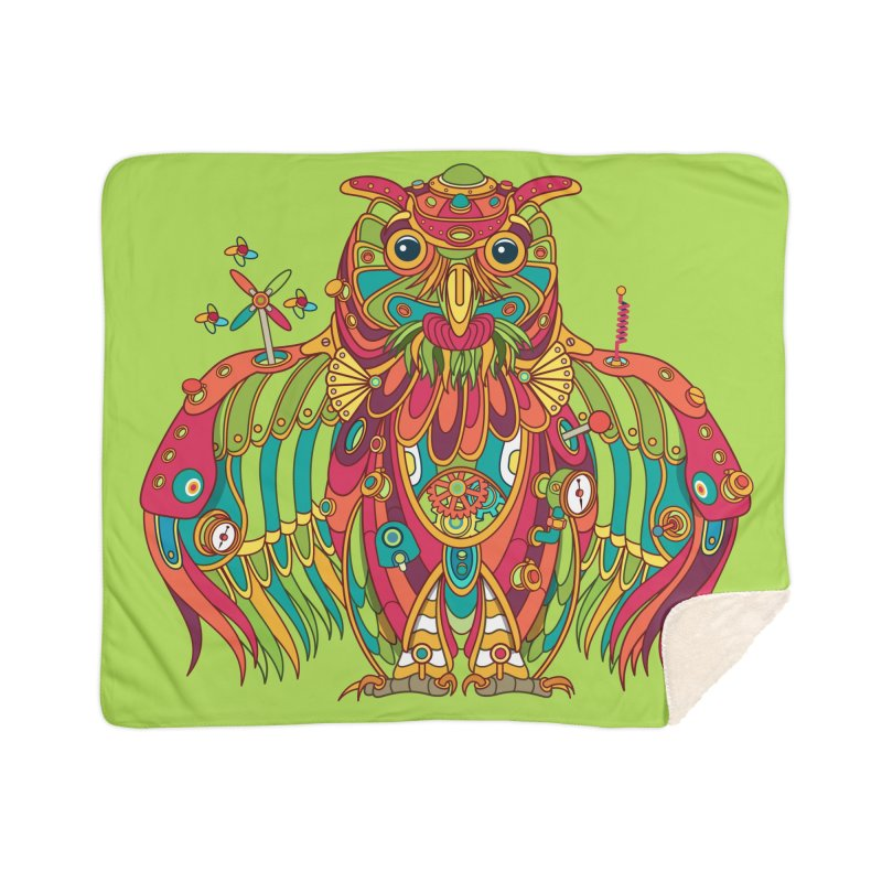 Owl, cool art from the AlphaPod Collection Home Sherpa Blanket Blanket by AlphaPod