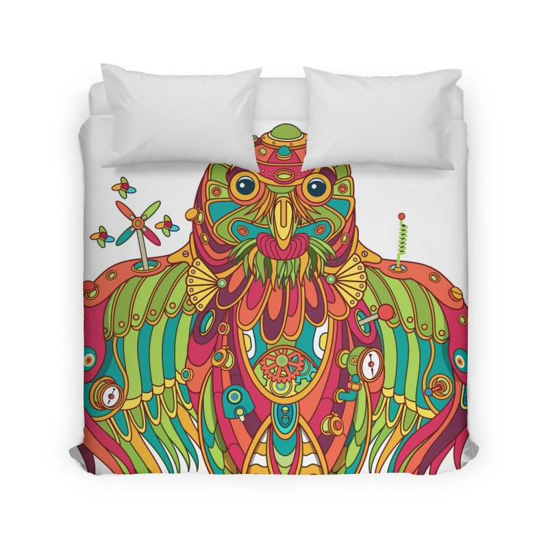 Owl, cool art from the AlphaPod Collection Home Duvet by AlphaPod