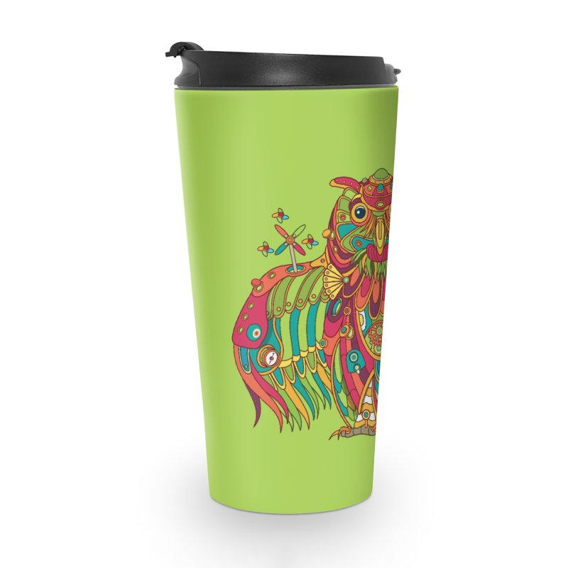 Owl, cool art from the AlphaPod Collection Accessories Travel Mug by AlphaPod