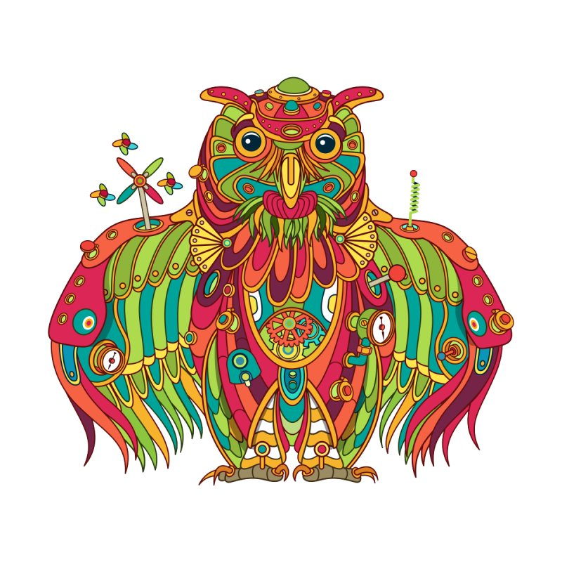 Owl, cool art from the AlphaPod Collection Women's V-Neck by AlphaPod
