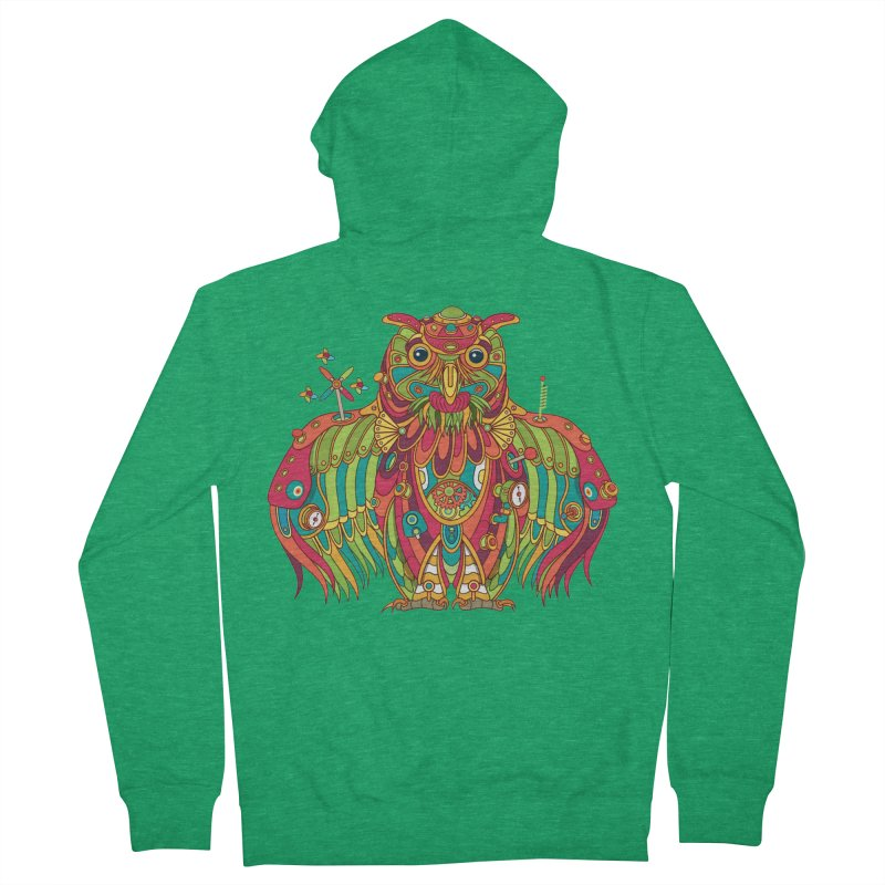 Owl, cool art from the AlphaPod Collection Men's Zip-Up Hoody by AlphaPod