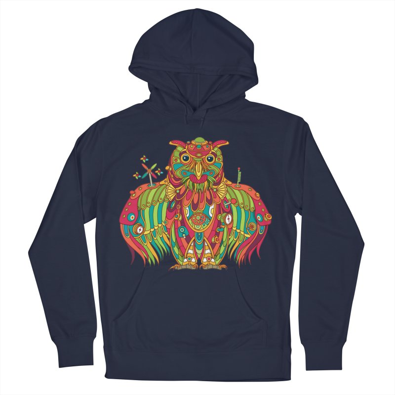 Owl, cool art from the AlphaPod Collection Women's French Terry Pullover Hoody by AlphaPod