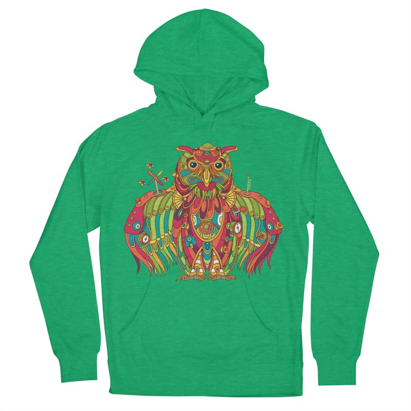 Owl, cool art from the AlphaPod Collection Men's French Terry Pullover Hoody by AlphaPod
