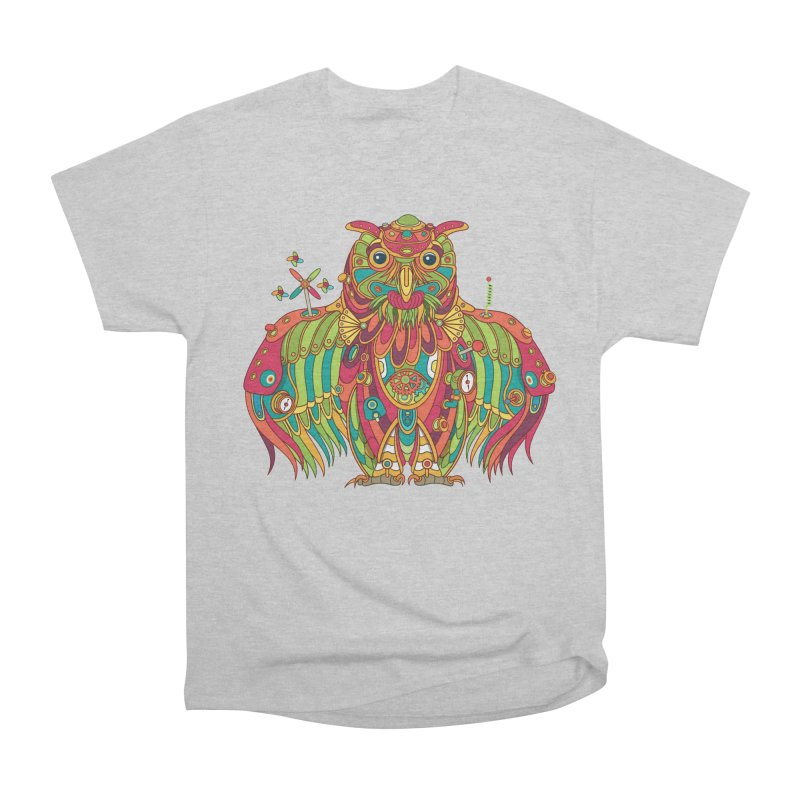 Owl, cool art from the AlphaPod Collection Women's Heavyweight Unisex T-Shirt by AlphaPod