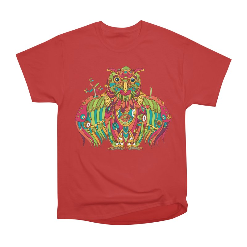 Owl, cool art from the AlphaPod Collection Women's Heavyweight Unisex T-Shirt by AlphaPod